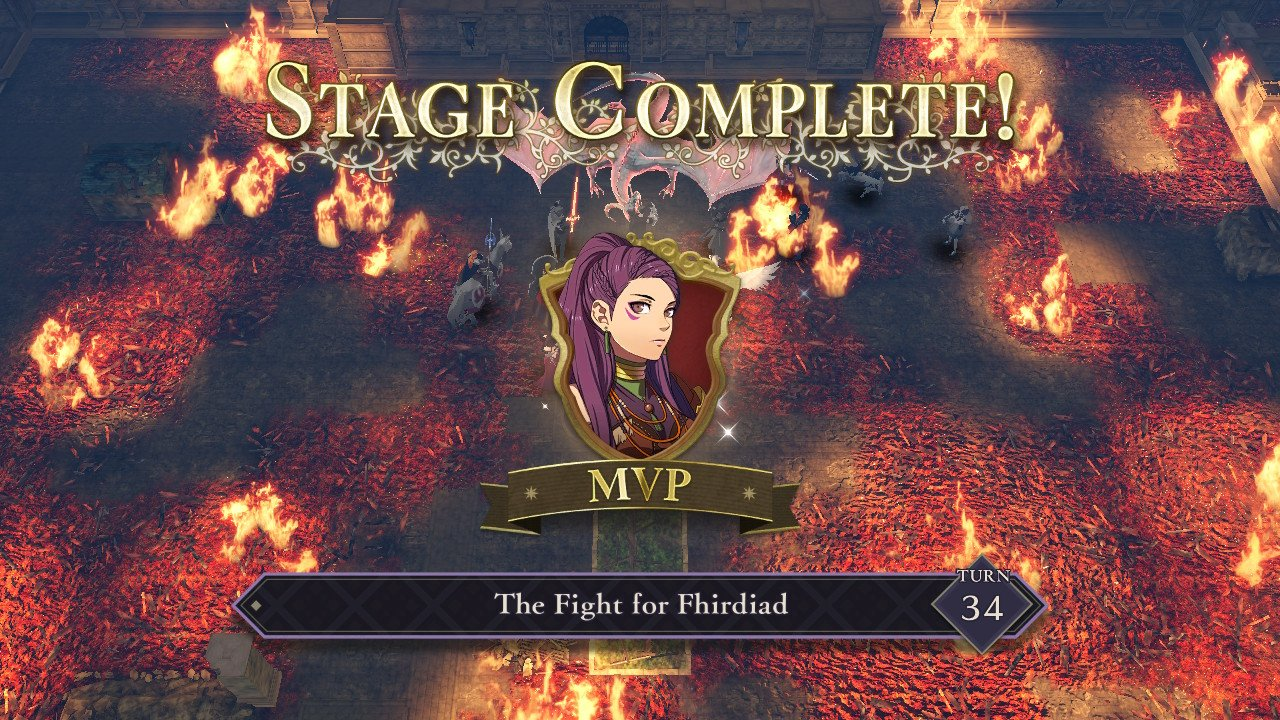 Fire Emblem Three Houses Petra MVP The fight for Fhirdiad Hard Mode