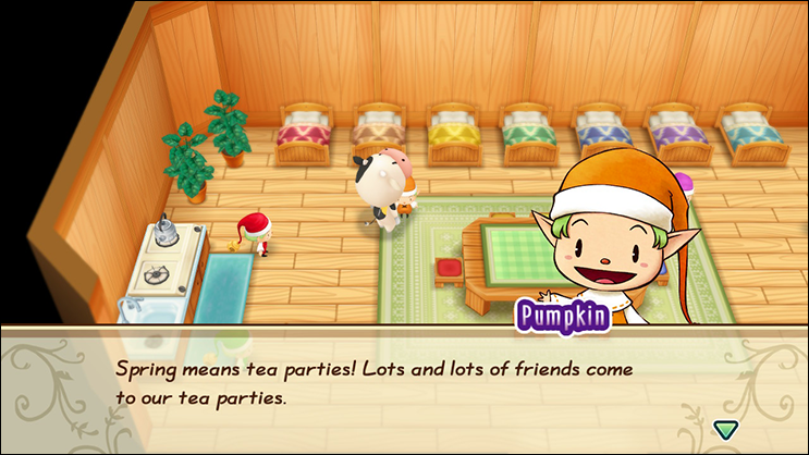 The Nature Sprite Tea Party In 'Friends of Mineral Town' 1