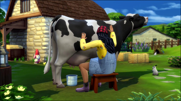 The Sims 4 Cottage Living Cows
