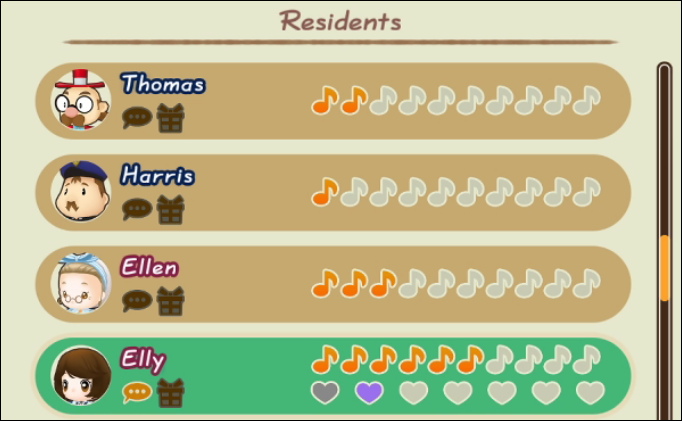 story of seasons friends of mineral town resident-relationships