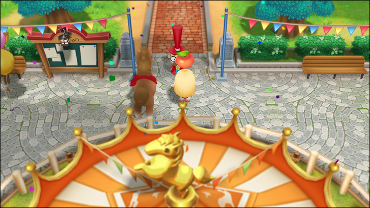 story of seasons friends of mineral town win horse race